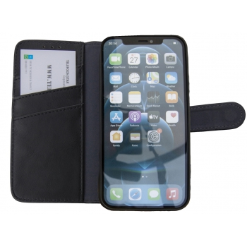 Flipcover iPhone 13 Zwart