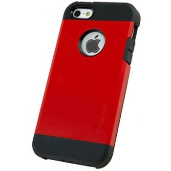 Apple iPhone 5 Armor Bescherming Hoesje Rood