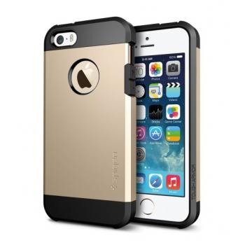 Apple iPhone 5s Armor Bescherming Hoesje Goud