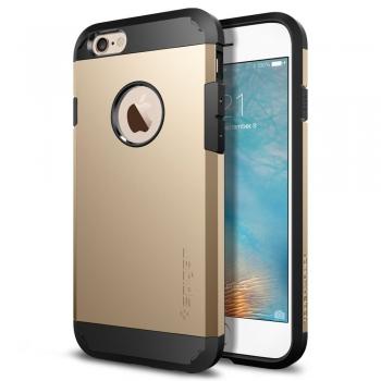 Apple iPhone 6/6S Armor Bescherming Hoesje Goud