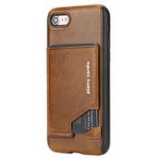 iPhone 7 Origineel Luxe Back Cover Pas 100% Leer Licht Bruin