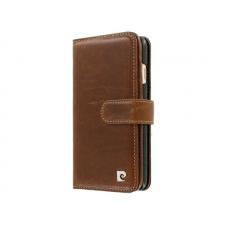 iPhone 8 Origineel Luxe Book Case Hoesje 100% Leer Donker Bruin