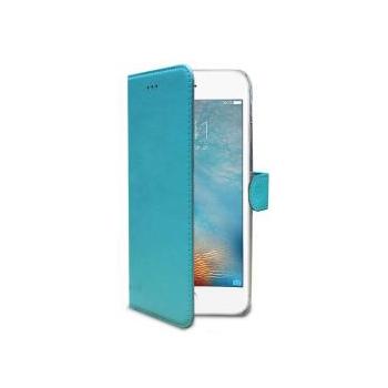 iPhone 8 Plus Echt Leer Hoesje Blauw