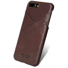 iPhone 8 Plus Origineel Luxe Back Cover 100% Leer Donker Bruin