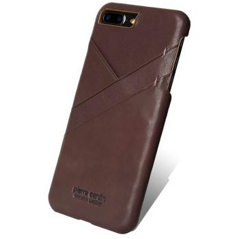 iPhone 7 Plus Origineel Luxe Back Cover 100% Leer Donker Bruin
