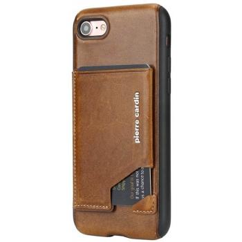 iPhone 7 Plus Origineel Luxe Back Cover Pas 100% Leer Licht Bruin