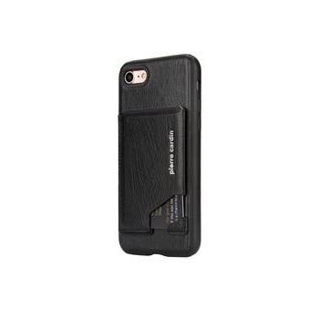 iPhone 8 Plus Origineel Luxe Back Cover Pas 100% Leer Zwart