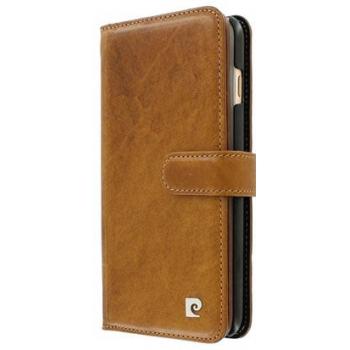 iPhone 8 Plus Origineel Luxe Book Case Hoesje 100% Leer Licht Bruin