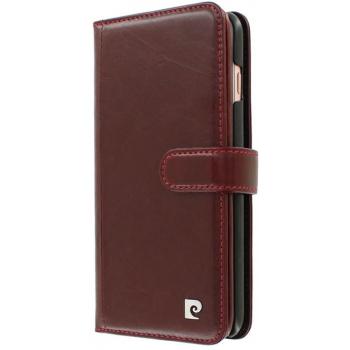 iPhone 7 Plus Origineel Luxe Book Case Hoesje 100% Leer Rood