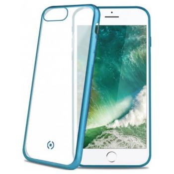 Doorzichtig Siliconen Hoesje Laser iPhone 8 blauw