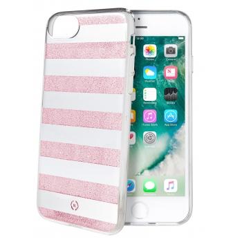 iPhone 7 Gestreepte achterkant roze