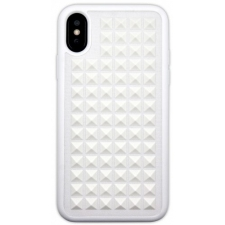 iPhone X hoesje 3D punten in Wit