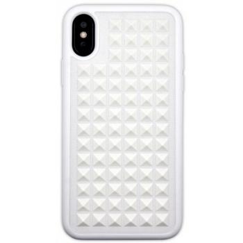 iPhone X hoesje 3D punten in Wit