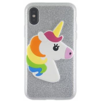 iPhone X hoes siliconen Glitter Eenhoorn