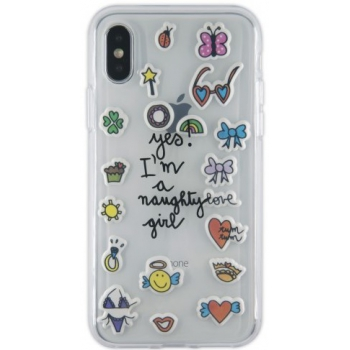 iPhone X hoesje Transparant 3D stickers