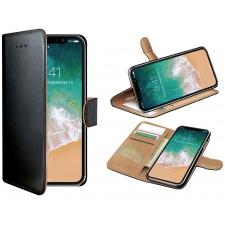 Huawei p 20 lite 100% Leer Hoesje Zwart