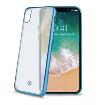 Doorzichtig Siliconen Hoesje Laser iPhone X blauw
