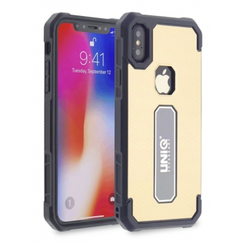 iPhone X protectieve silicone achterkant goud