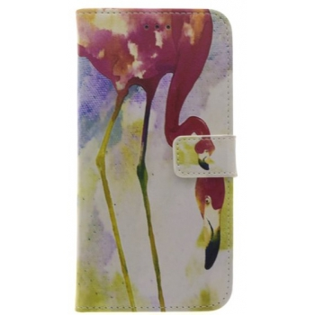 iPhone 7/8 Plus 'Flamingo' Print booktype hoesje