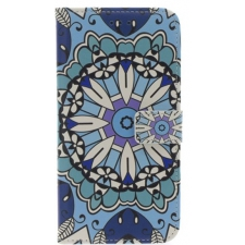 iPhone 7/8 Plus Blauwe Bloem Print booktype hoesje