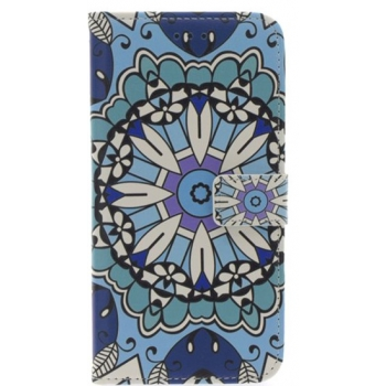 iPhone 7/8 Plus Blauwe Bloem Print booktype hoesje