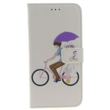 iPhone 7/8 Plus 'Fietser' Print booktype hoesje