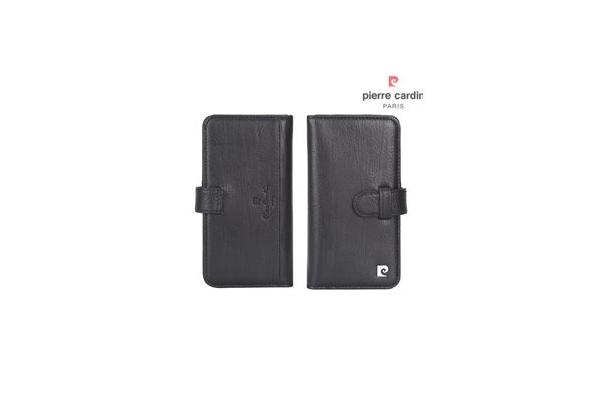 iPhone 7/8/SE 2 Book case Echt leer Zwart luxe editie