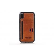 iPhone X Backcover van Pierre Cardin Echt leer in Bruin