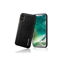 iPhone X Back cover Pierre Cardin Echt leer Zwart