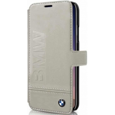 iPhone X BMW book case Echt Leer in Beige