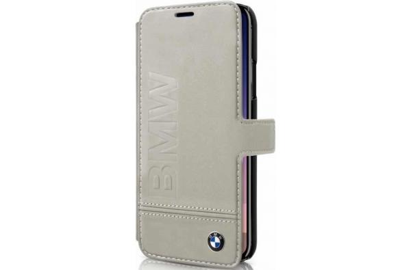 iPhone X BMW book case Echt Leer in Beige