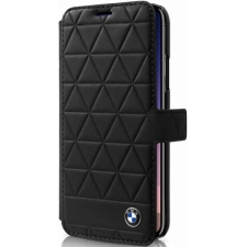 iPhone X BMW book case Echt leer hexagon