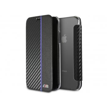 iPhone X book case BMW M Blauw