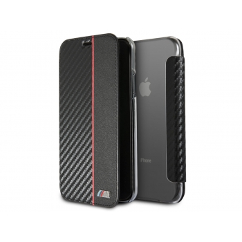 iPhone X book case BMW M Rood