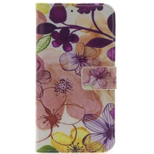 iPhone X Bloemen Print booktype hoesje