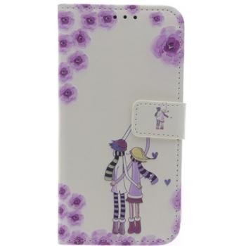 iPhone X 'Bloemen lucht' Print booktype hoesje