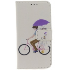 iPhone X Fietser Print booktype hoesje