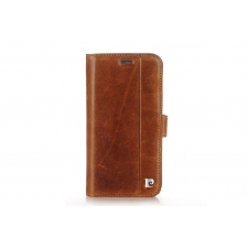 iPhone X Bookcase Pierre Cardin Echt leer Bruin