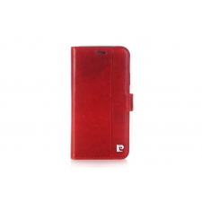 iPhone X Bookcase Pierre Cardin Echt leer Rood