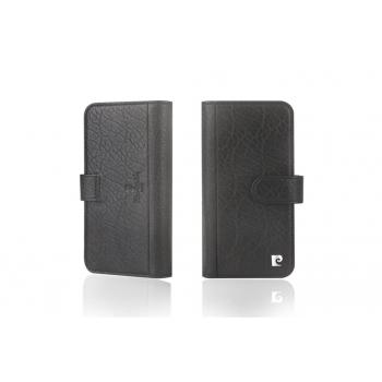 iPhone X Bookcase Luxe editie Echt leer Zwart