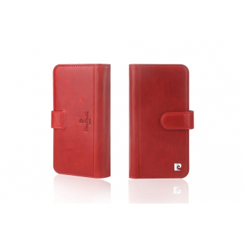 iPhone X Bookcase Luxe editie Echt leer Rood