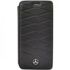 iPhone X bookcase Mercedes-Benz Echt leer Zwart