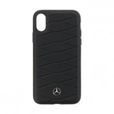 iPhone X hardcase Mercedes-Benz Echt leer Zwart