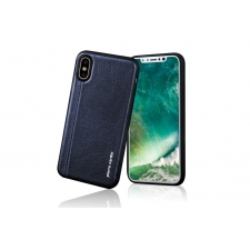 iPhone X Backcover Pierre Cardin Echt leer Blauw