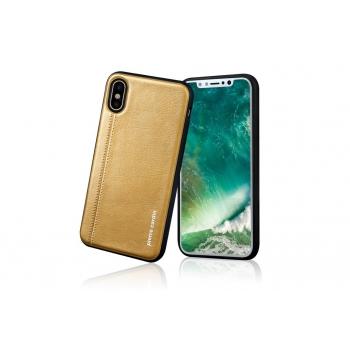 iPhone X Back cover Pierre Cardin Echt leer Geel