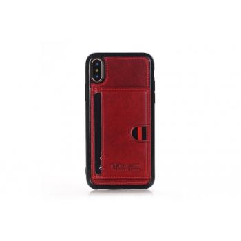 iPhone X Backcover van Pierre Cardin Echt leer in Rood