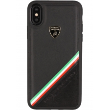 Apple iPhone XR Originele Lamborghini back cover Alcantara Zwart - Genuine Leather