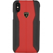 Apple iPhone XR Originele Lamborghini back Serie Red - Genuine Leather