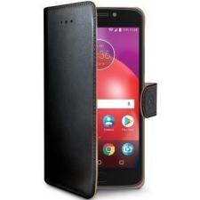 Motorola Moto E4 Boek hoesje Echt leer Zwart