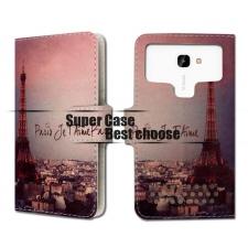Motorola Moto E4 Plus Parijs Print UPC Leer Hoesje